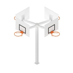 Basketball tower with 4 goals Square steel - the unit