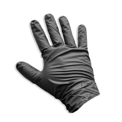 Pack of X100 BLACK NITRILE GLOVES