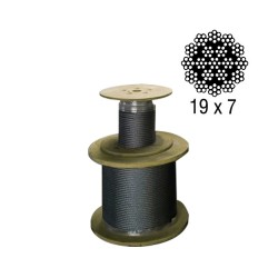 Non-rotating steel wire rope Ø12mm, galvanised steel core