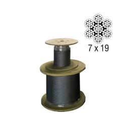 Galvanised steel wire rope core 7x19