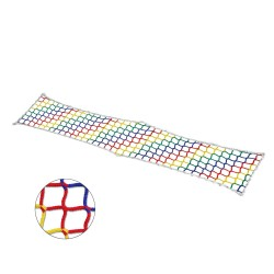 Filet à marcher Polypropylène, sans noeud, maille carrées de 45mm, multicolor
