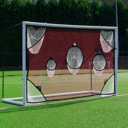 Soccer training net with targets