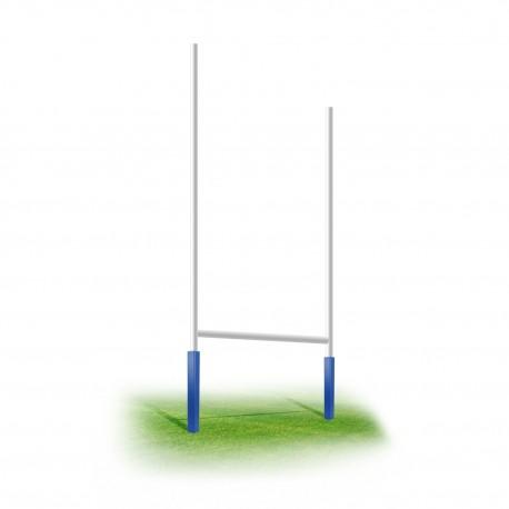 But de rugby Ø102mm Aluminium plastifié blanc