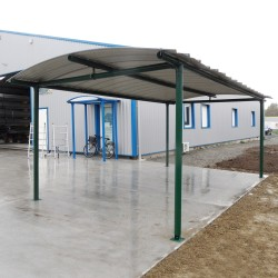 Carport - roof with translucent polycarbonate plates