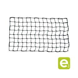 Black PP climbing net, core Ø16mm square mesh 250mm, ring at each end,