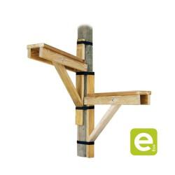 Marche d'escalier réalisée en bois traité classe 4 + sachet accessoires