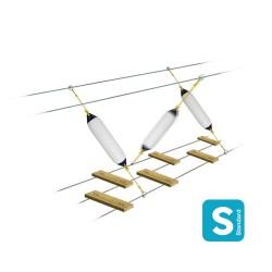 Obstacle du corsaire : pare-battage polyform Largeur 1m avec corde élastique