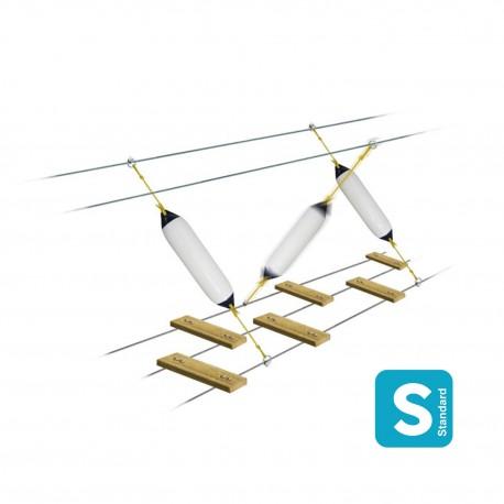 Obstacle du corsaire : pare-battage polyform Largeur 1m