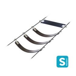 The Flex : Produit en caoutchouc flexible à fixer sur deux câbles