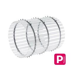 Tonneau en kit composé de cercles, lattes en plexiglass XT, longueur 1m