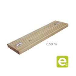 Grooved wooden planks for bridge 0,50m