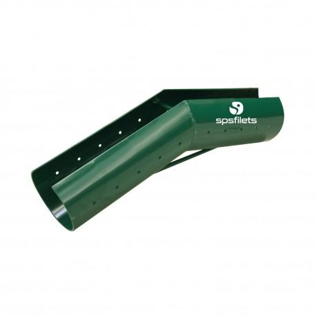 Sleeve for zip line - Green plastic-coated steel sleeve