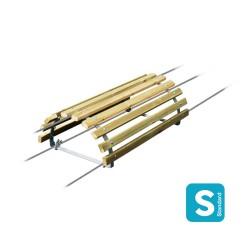 Cheval d'arçons - longueur 1m - 1/2 cercles, 10 planches et accessoires