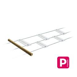 Passerelle Chinoise Glass : planche 0.40m en plexiglass XT à poser sur 3 câbles