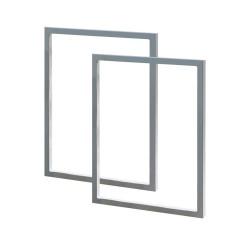 Structure carrée en acier de 0.80m x1m de haut pour balancelle - lot de 2 unités