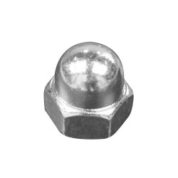 ZOOM on zinc-plated cap nuts