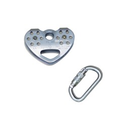 Pack pulley Tandem speed + safety carabiner with screw-gate